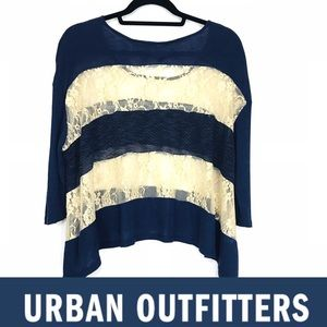 💠 Urban Outfitter 💠 Cropped Lace Sweater.